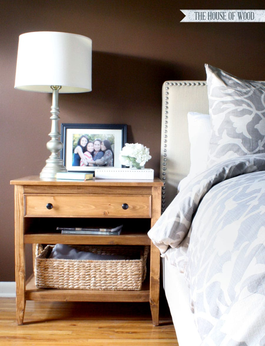 Bedside table design plans - Diy Nightstands Bedside Tables