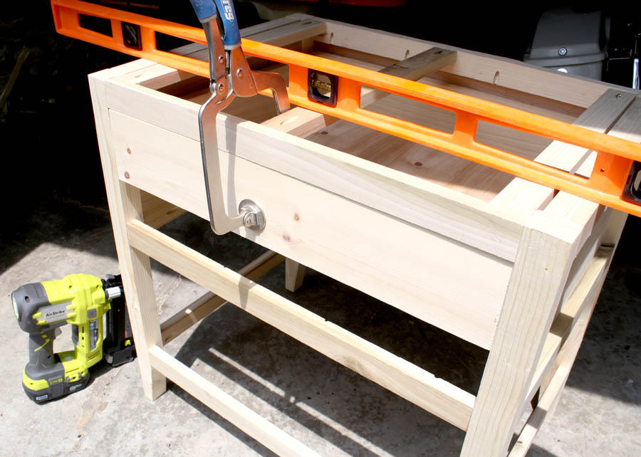 attaching drawer face on nightstands
