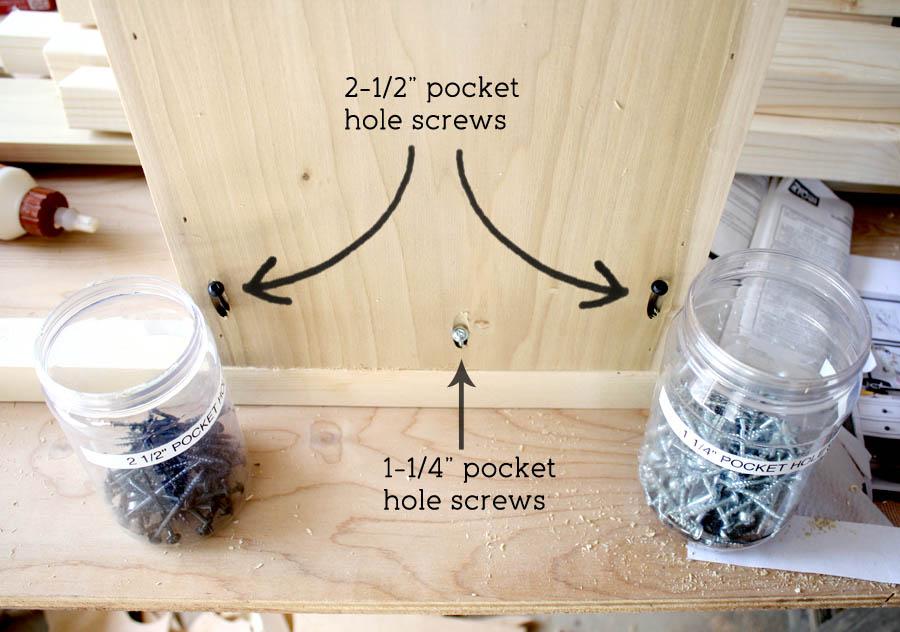 pocket hole screws in nightstands