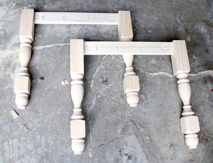 DIY Pottery Barn Seaton Console