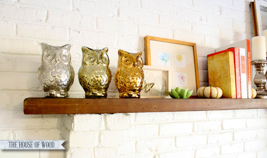 metallic fall mantel