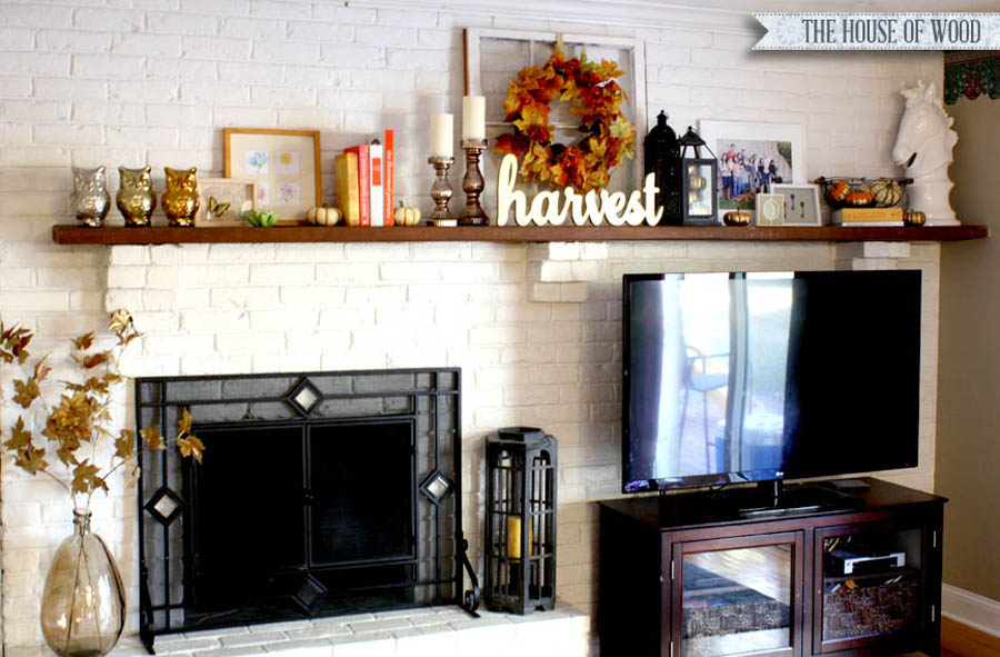 mixed metallics fall mantel