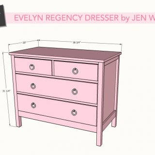 DIY Evelyn Regency Dresser