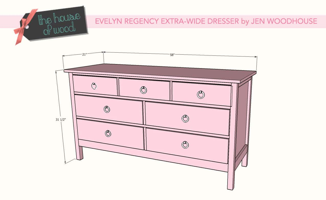 DIY evelyn regency extra wide dresser