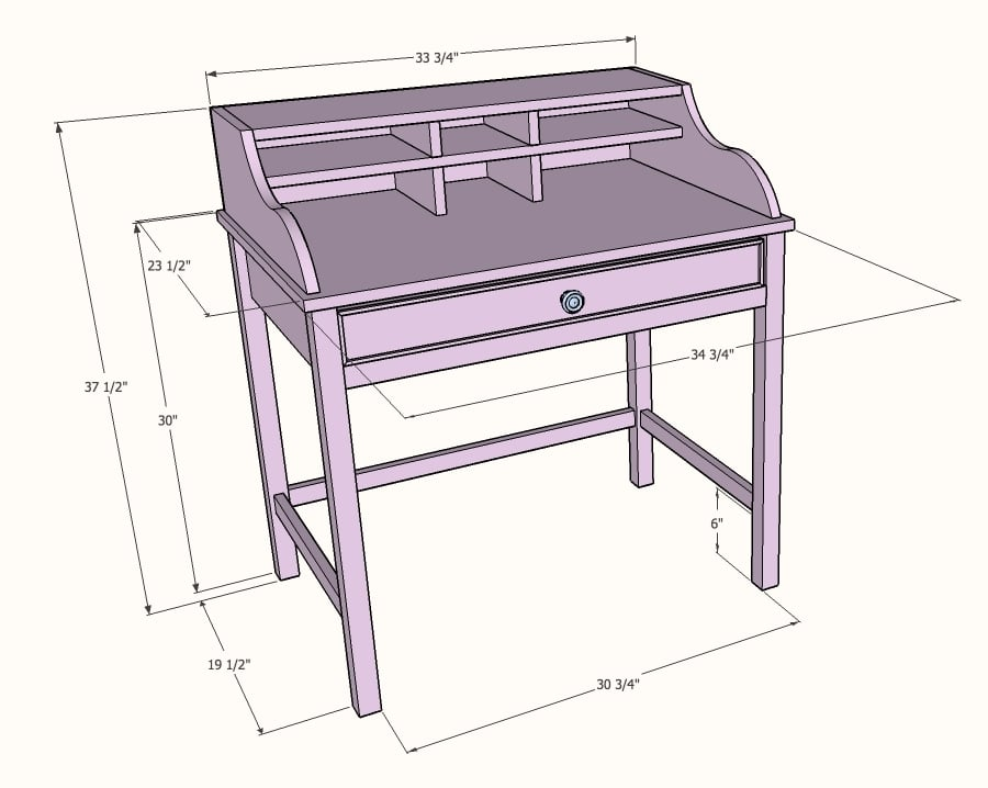 DIY jacqueline table dimensions
