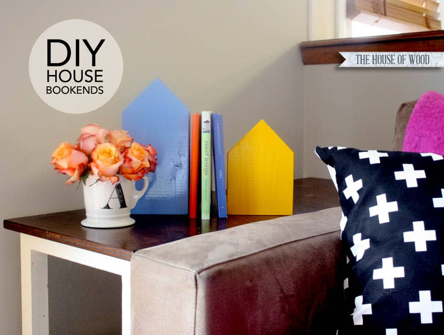 DIY scrap wood house bookends