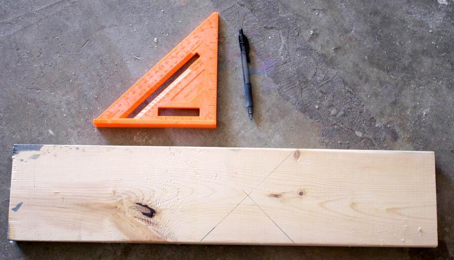 DIY scrap wood house bookends