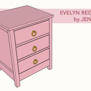 DIY evelyn regency nightstand