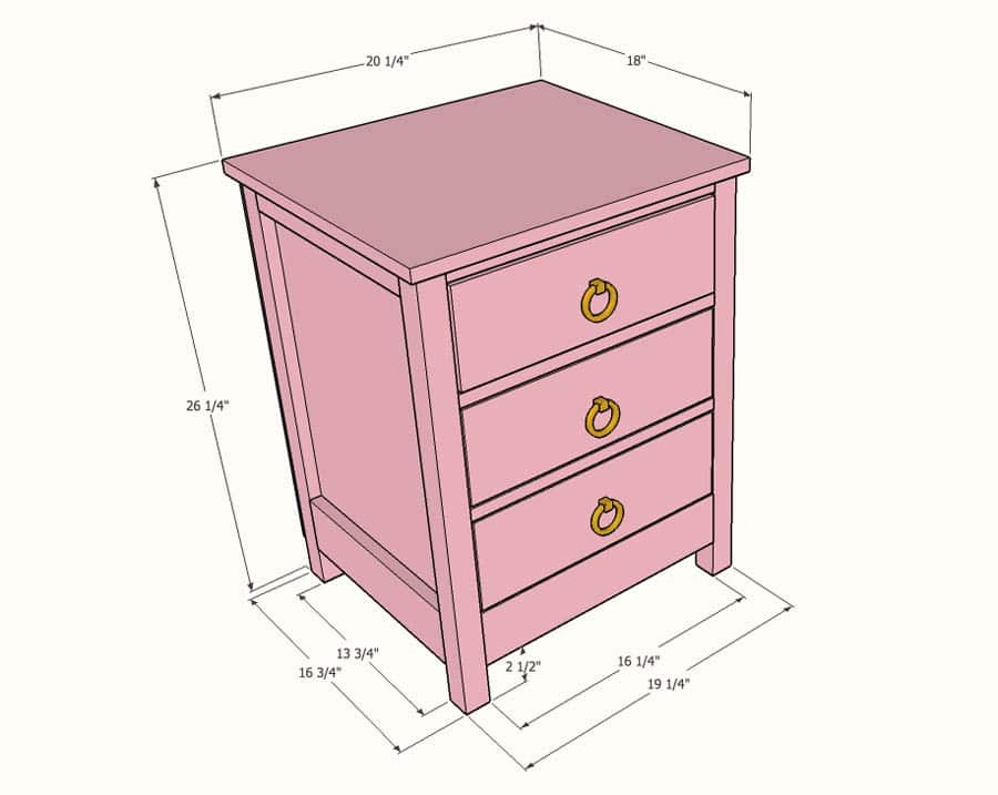 Standard Bedside Table Height Designs
