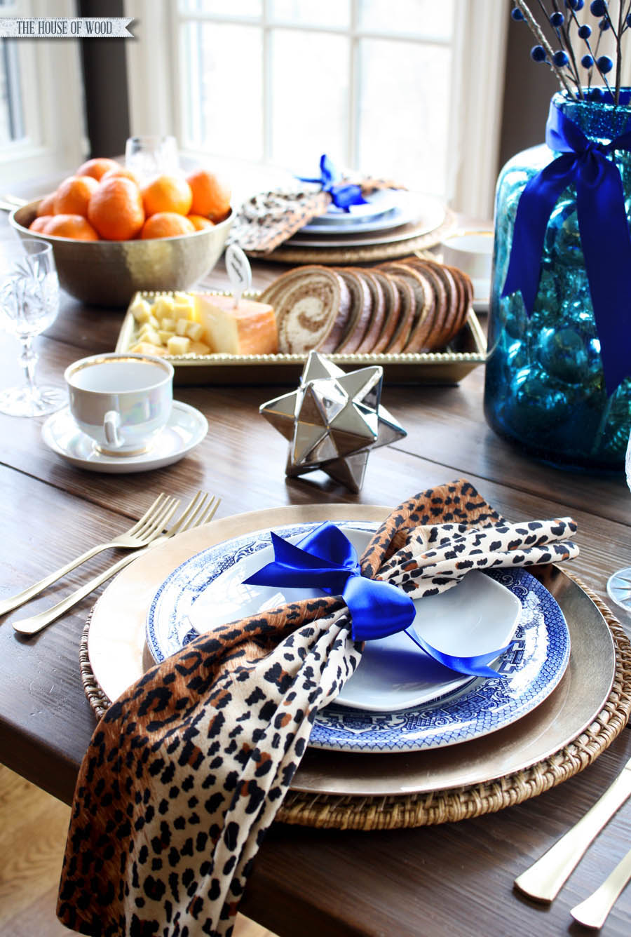 Christmas breakfast table setting