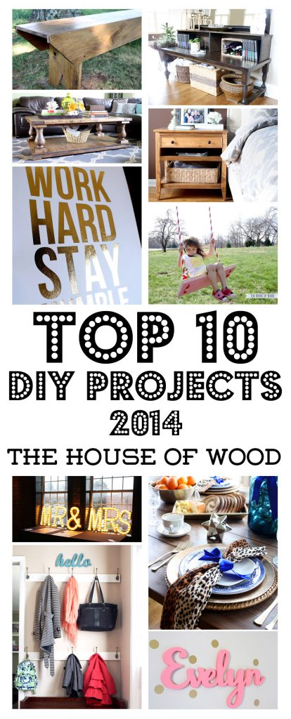 Awesome roundup of the top 10 DIY projects of 2014 from The House of Wood | www.jenwoodhouse.com/blog