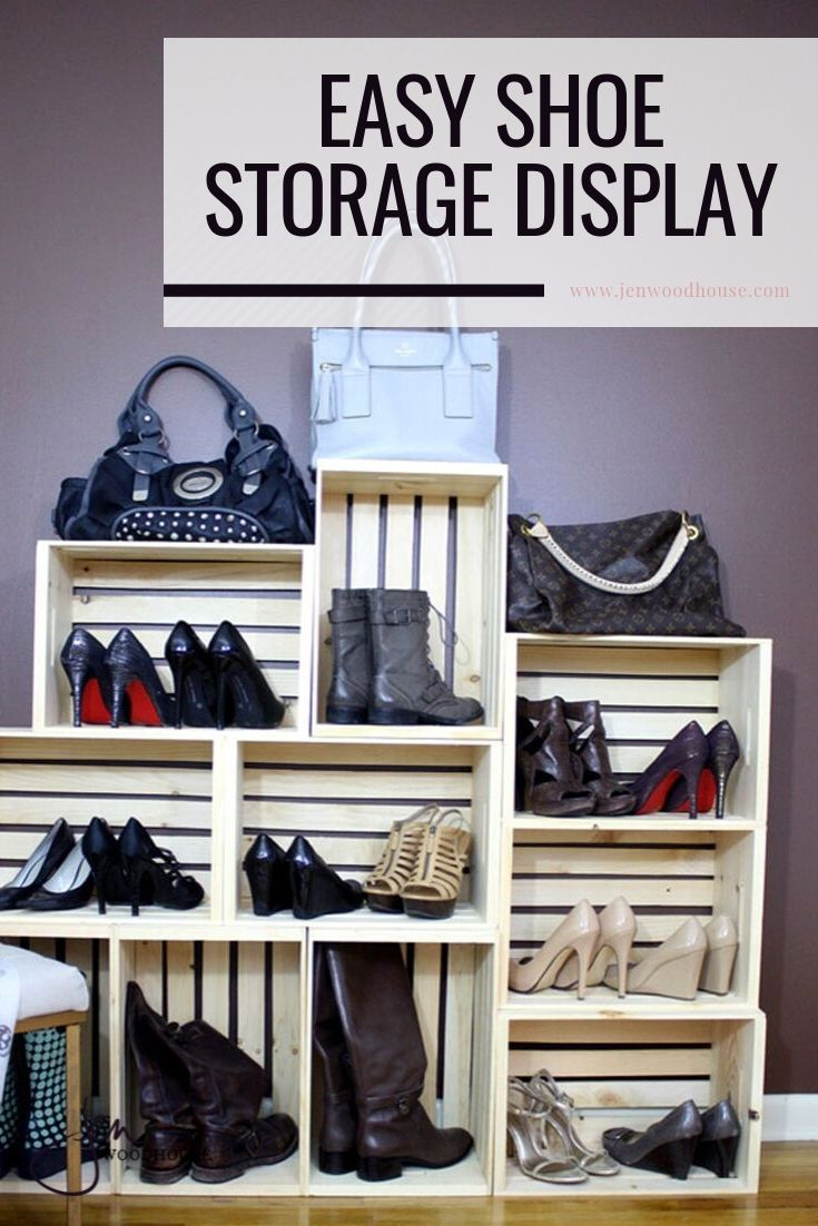 Get organized with this DIY storage display | Jen Woodhouse #DIYstorage #DIYorganization