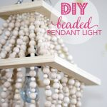 DIY Beaded Light Fixture