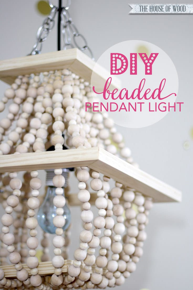 I am in LOVE with this DIY beaded light fixture! Tutorial at www.jenwoodhouse.com/blog