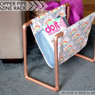 """How to build a DIY copper pipe magazine rack - a quick and easy """"no-sew"""" project!"""