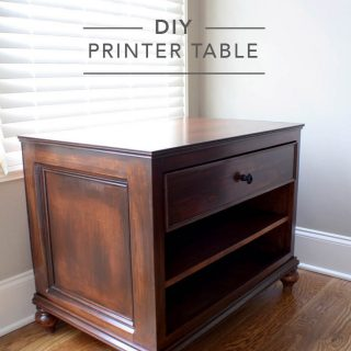 Build a DIY printer table with free plans by Ana White and a step-by-step tutorial by Jen Woodhouse | www.jenwoodhouse.com/blog