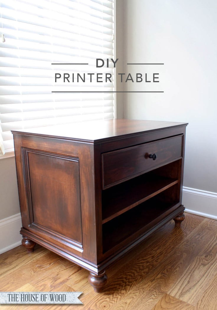 Awesome Build A DIY Printer Table With Free Plans By Ana White And A Step By
