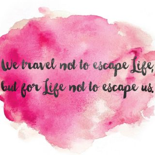 Travel quote free print