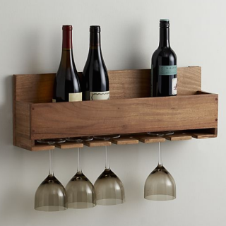 Build this beautiful wine bottle and stemware rack with scrap wood!