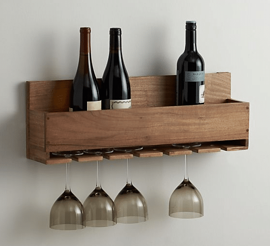 ... building this sweet little wine rack I spied from Crate and Barrel