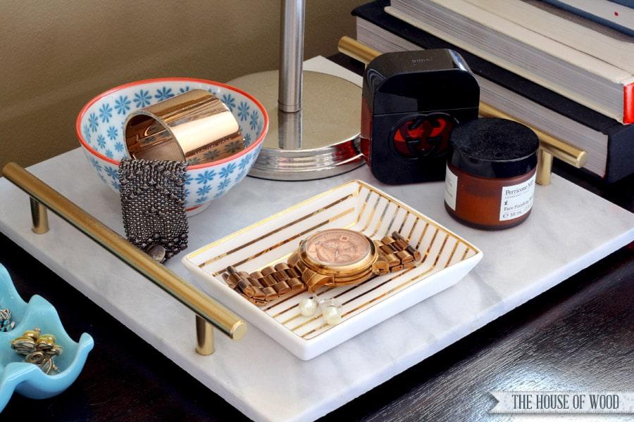 DIY marble tray