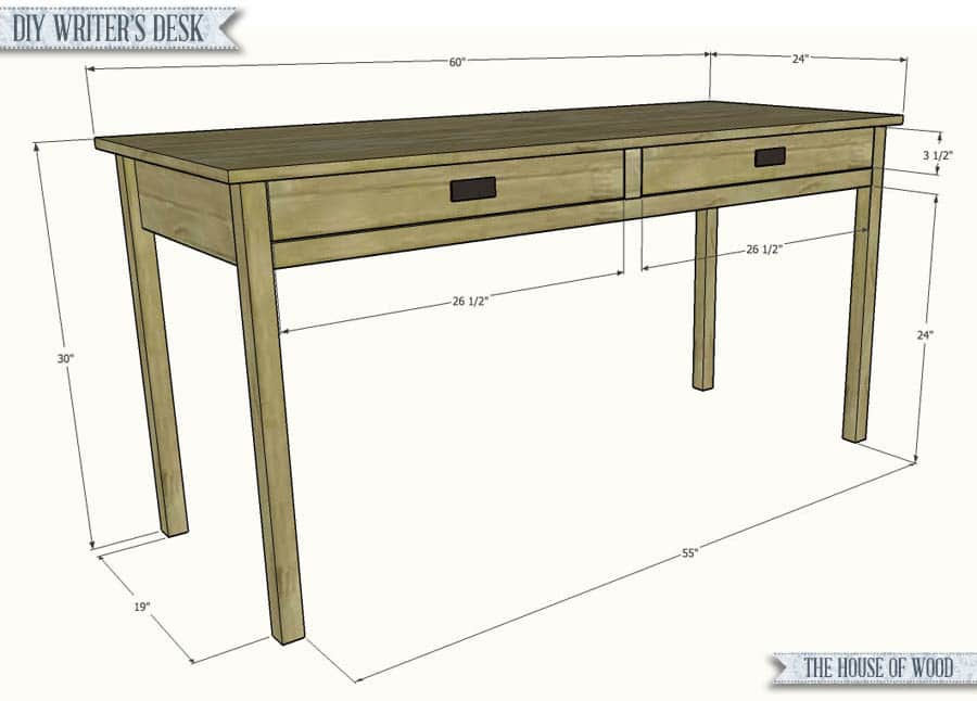 Simple Wood Desk Plans & Becuo