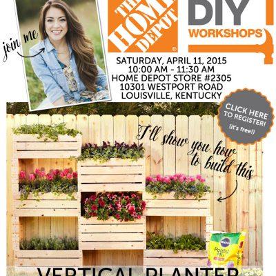 The Home Depot DIY Workshop: Vertical Planter