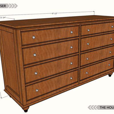 DIY 8-Drawer Dresser