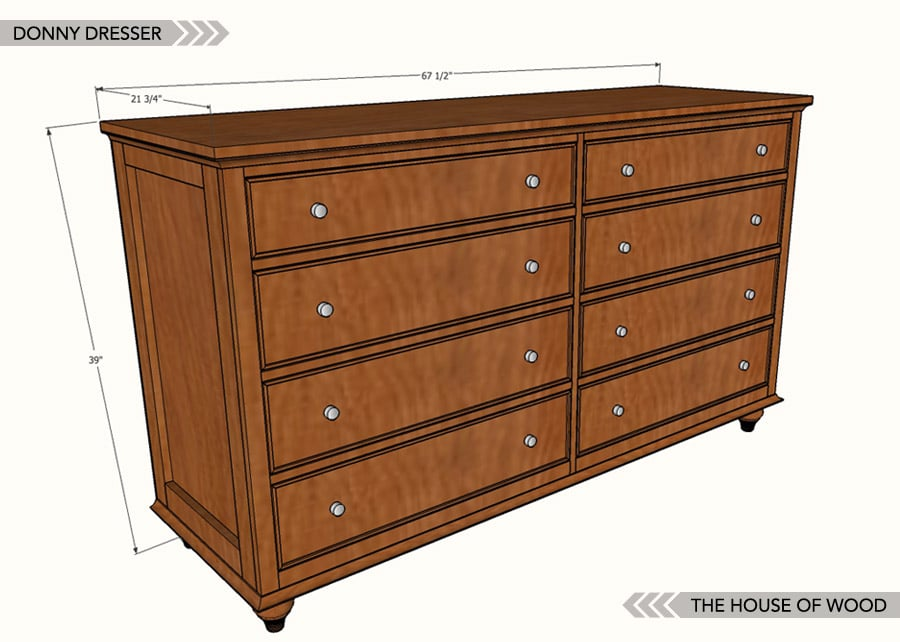 Building Wood Drawers ~ How to build a diy dresser free plans