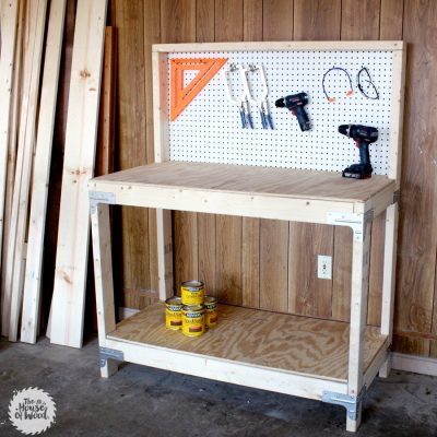 Build your own DIY workbench in just a few hours with the Simpson Strong-Tie workbench kit!