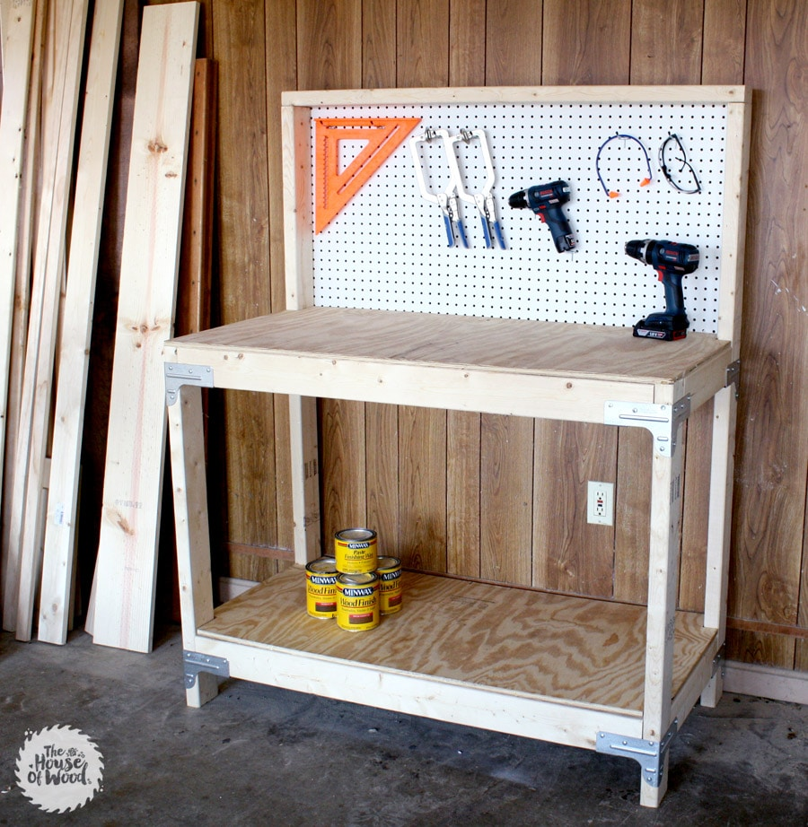 Do It Yourself Garage Workbench Plans: DIY Workbench With Simpson Strong-Tie Workbench Kit