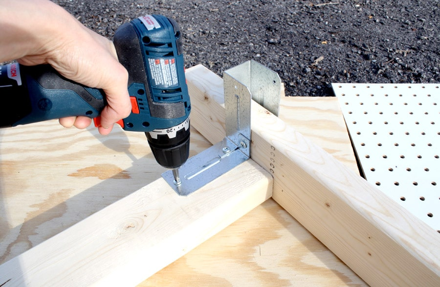 DIY workbench drilling