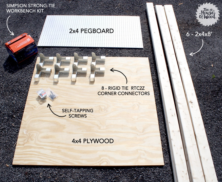 DIY workbench supplies