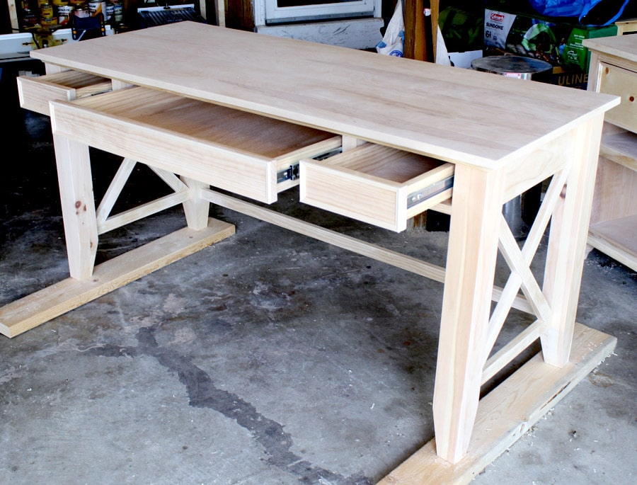 Diy writing desk Diy home office desk plans