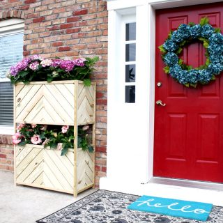 Chevron Two-Tiered Vertical Planter