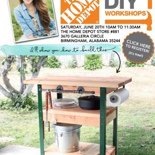 How to build a rolling grill cart - free DIY workshop at The Home Depot!