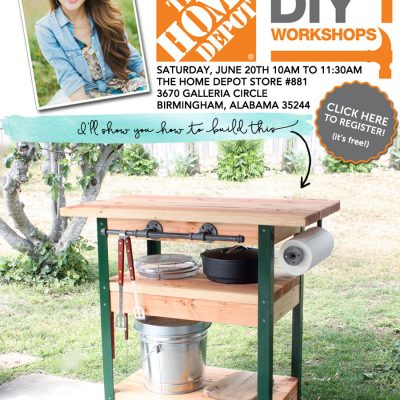 The Home Depot DIY Workshop: Rolling Grill Cart