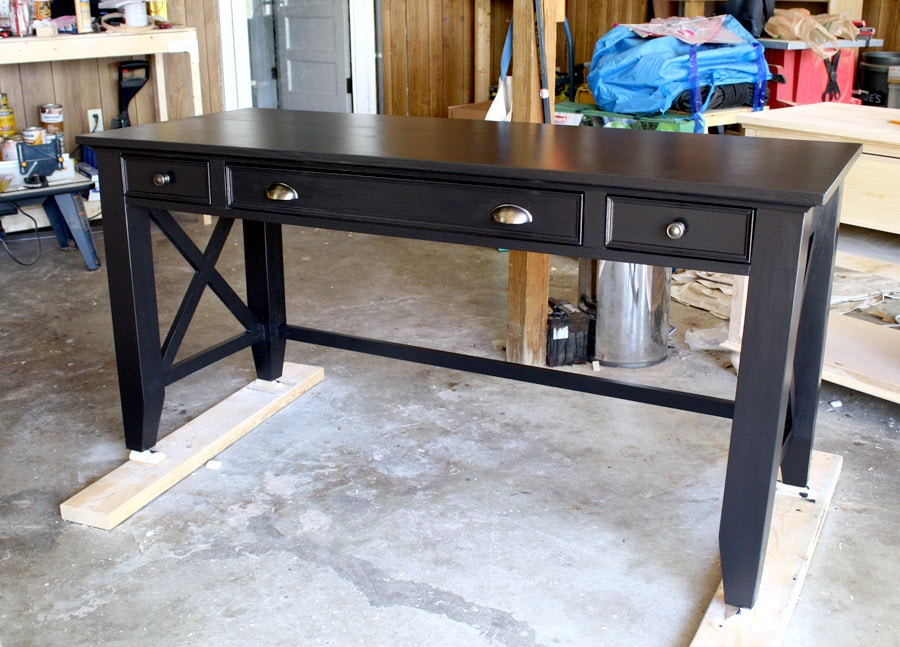 How to build a DIY writing desk. Full step-by-step tutorial and free plans by Jen Woodhouse