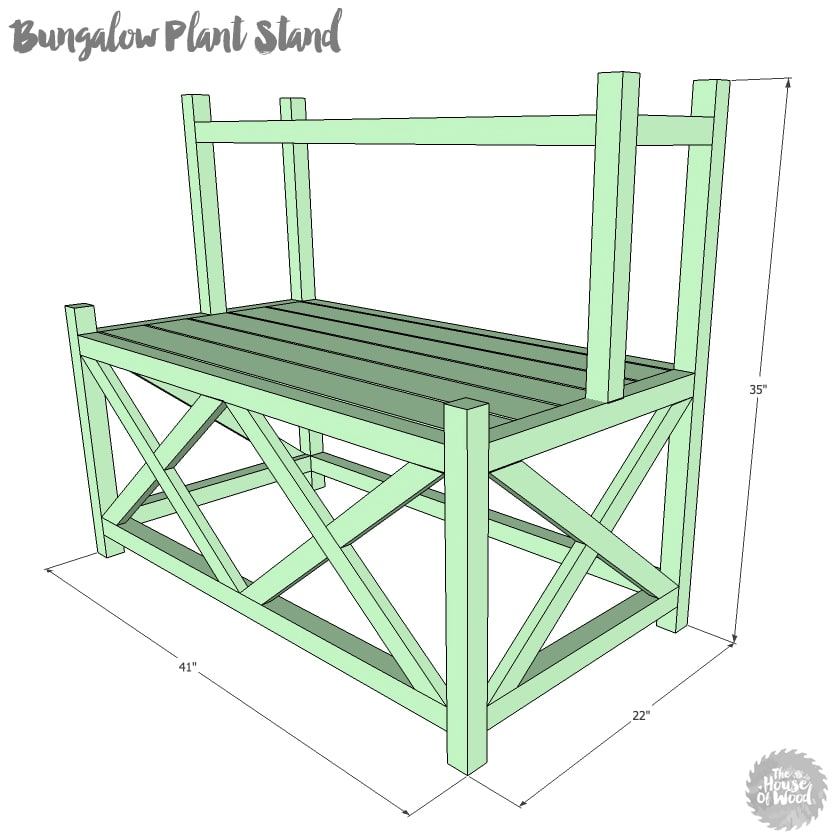 How to build a DIY two-tiered plant stand - free plans and tutorial. LOVE this and it doesn't look that hard to build!