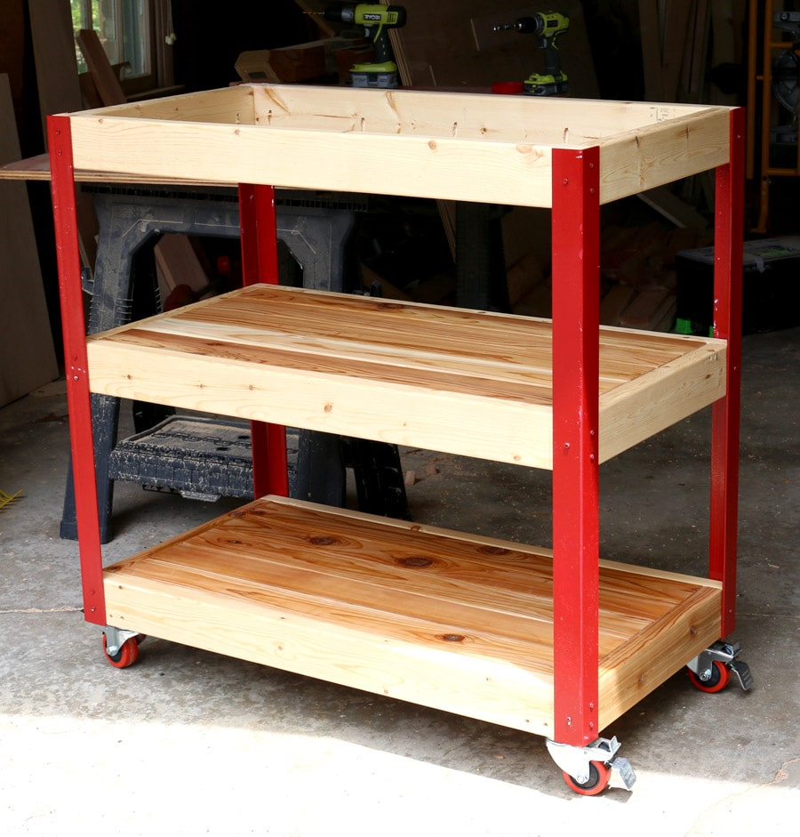 How to build a rolling grill cart for Rolling lumber cart plans