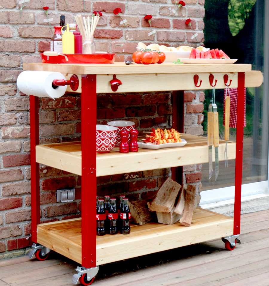 How to build a rolling grill cart