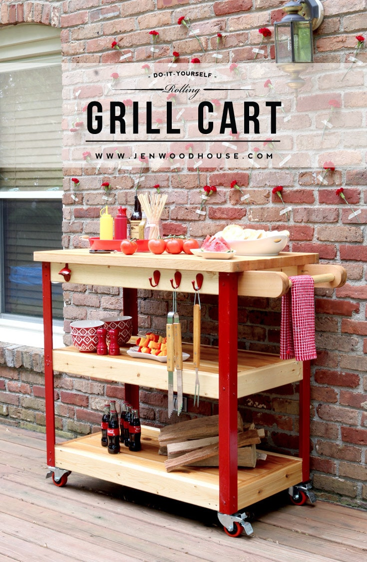 How To Build A Rolling Grill Cart - Outdoor grill table plans