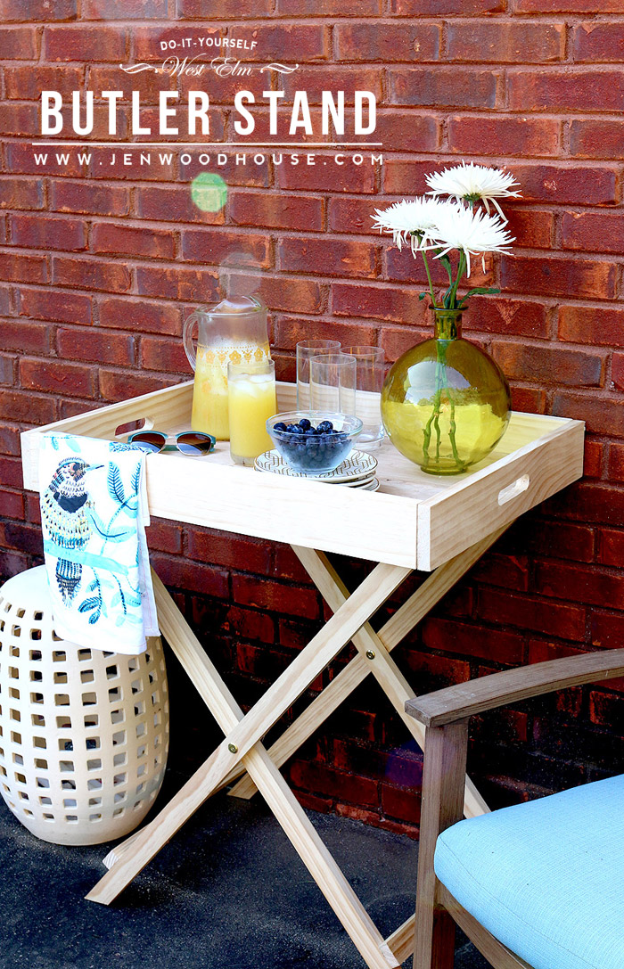 Tutorial on how to build a DIY West Elm Butler Stand.