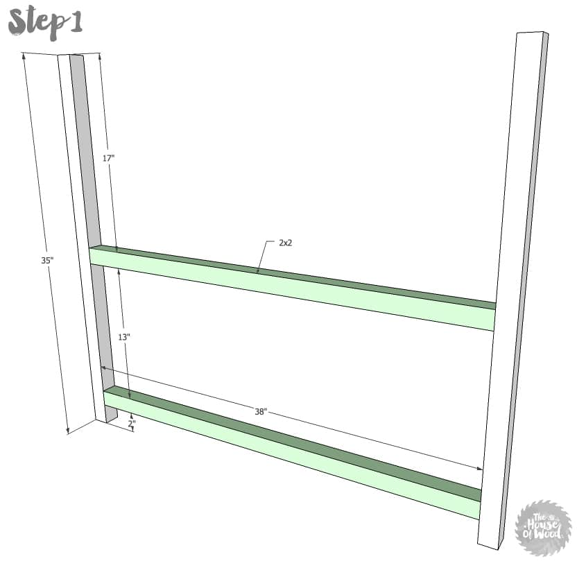 Free plans and tutorial on how to build a two-tiered plant stand