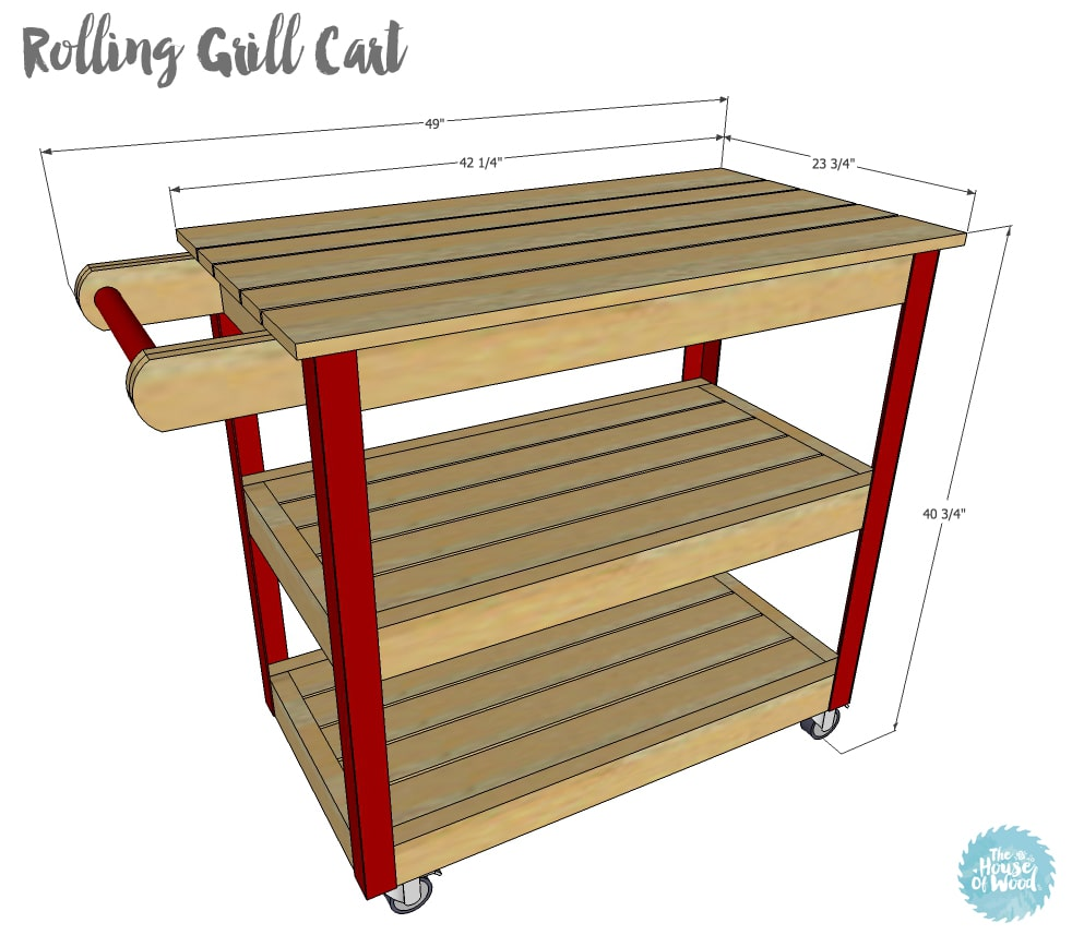 How to build a DIY rolling grill cart - free plans and tutorial!
