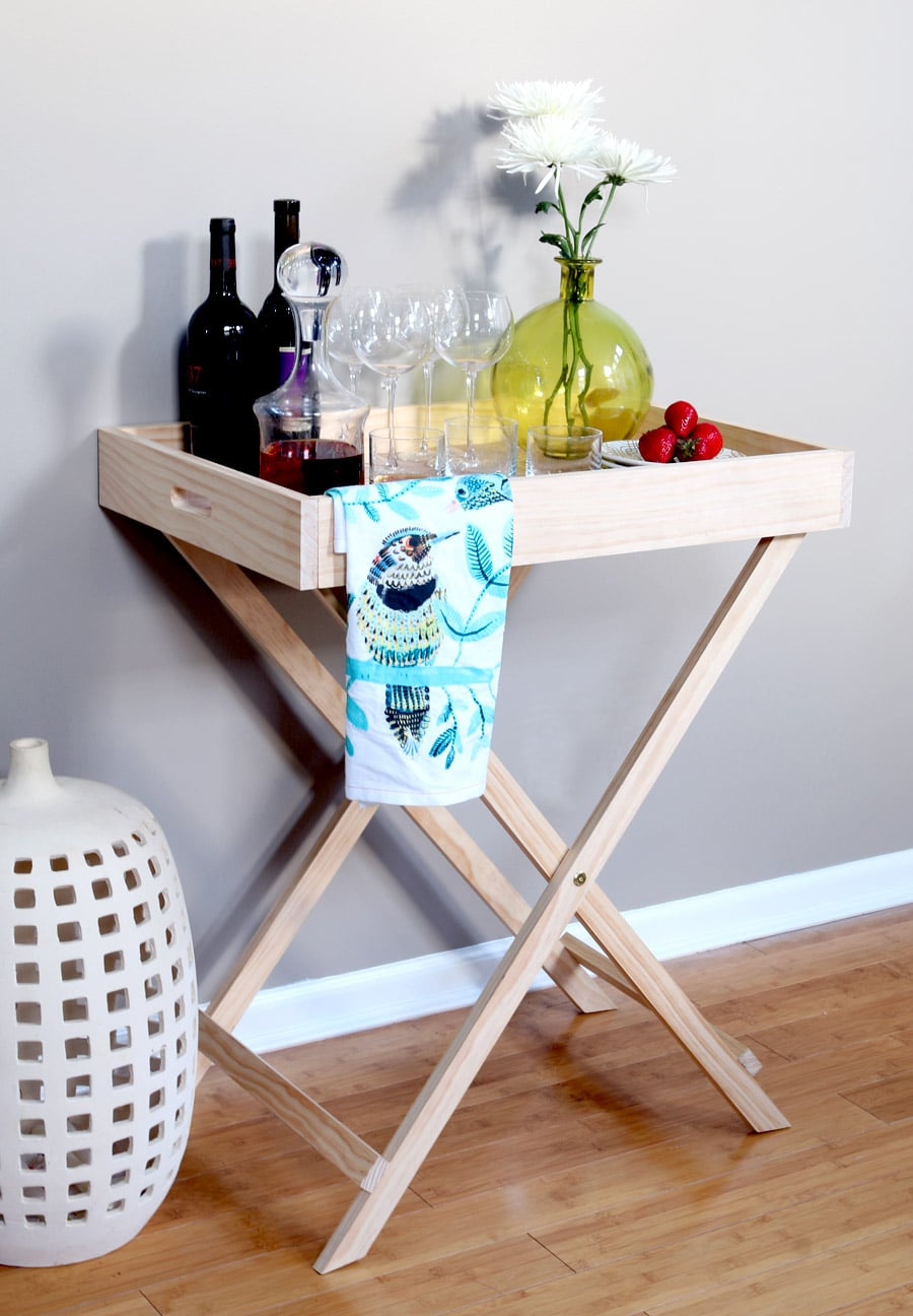 How To Build A DIY West Elm Inspired Butler Table