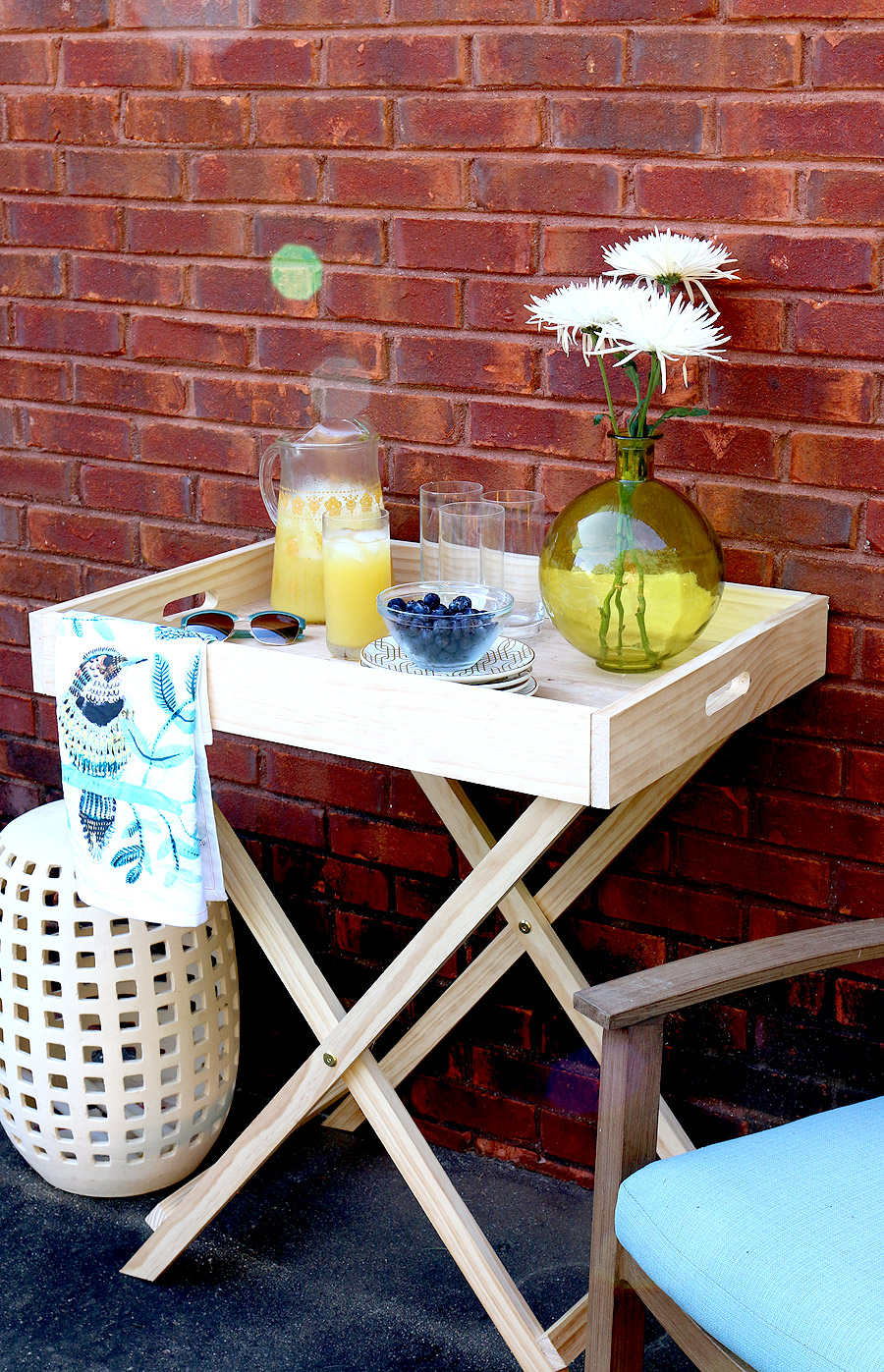 How to build a DIY West Elm Butler Stand