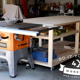 4×8 Workbench and Outfeed Table