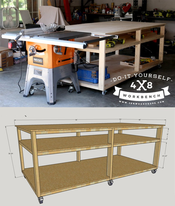 Awesome Diy Workbench Home Interior And Landscaping Oversignezvosmurscom