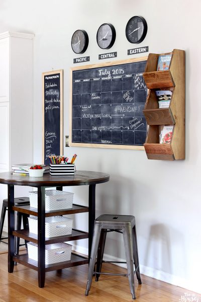 How to create a functional and stylish DIY family command center | The House of Wood